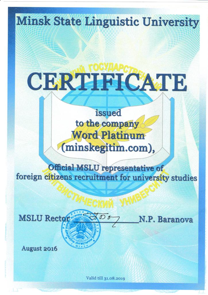 mslu inyaz temsilcilik sertifikasi